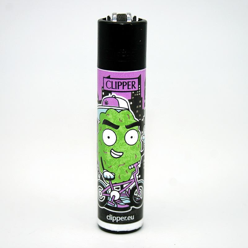 Clipper Feuerzeug 420 Buddies lila