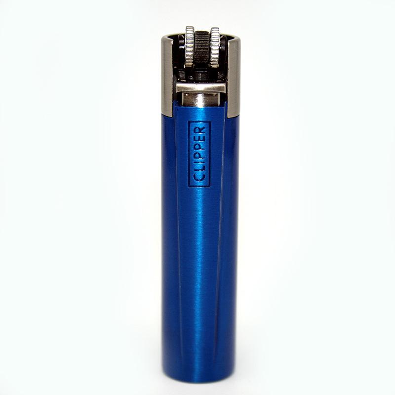 Clipper Feuerzeug Blue and Silver blau