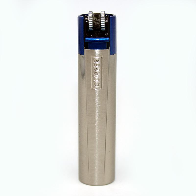 Clipper Feuerzeug Blue and Silver silber