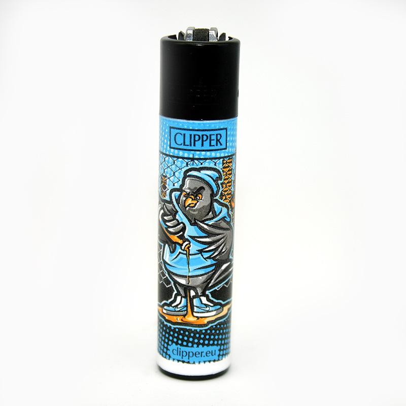 Clipper Feuerzeug Dope Birds blau
