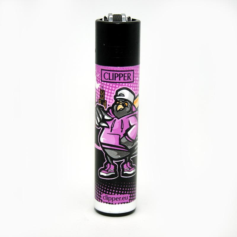 Clipper Feuerzeug Dope Birds lila