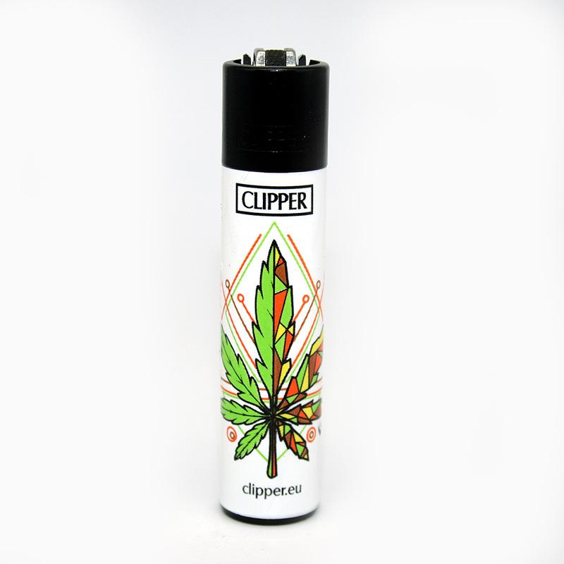 Clipper Feuerzeug Jamaican Mandala grün-gelb