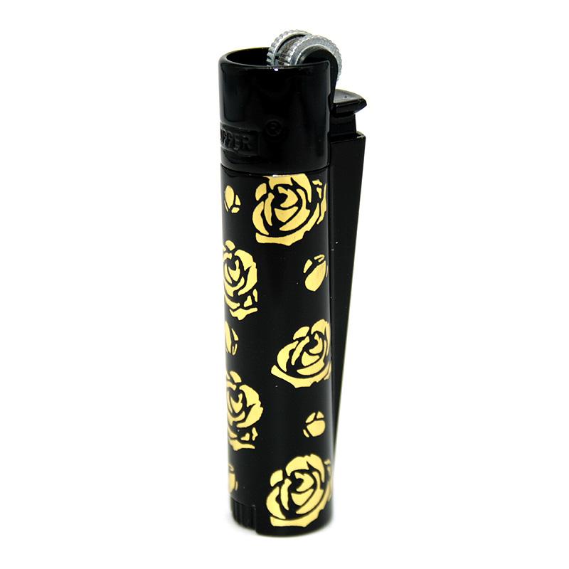 Clipper Feuerzeug Rose of Gold schwarz