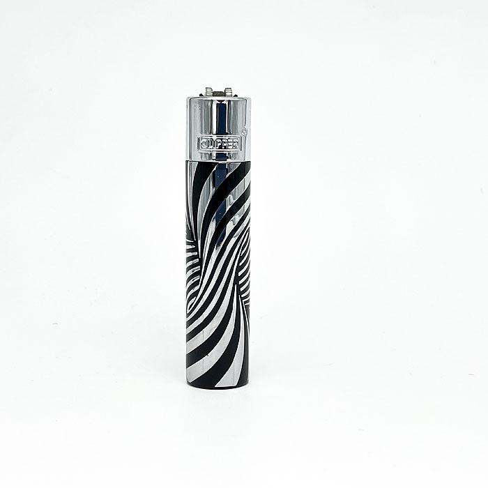 Clipper Feuerzeug schwarz-silber