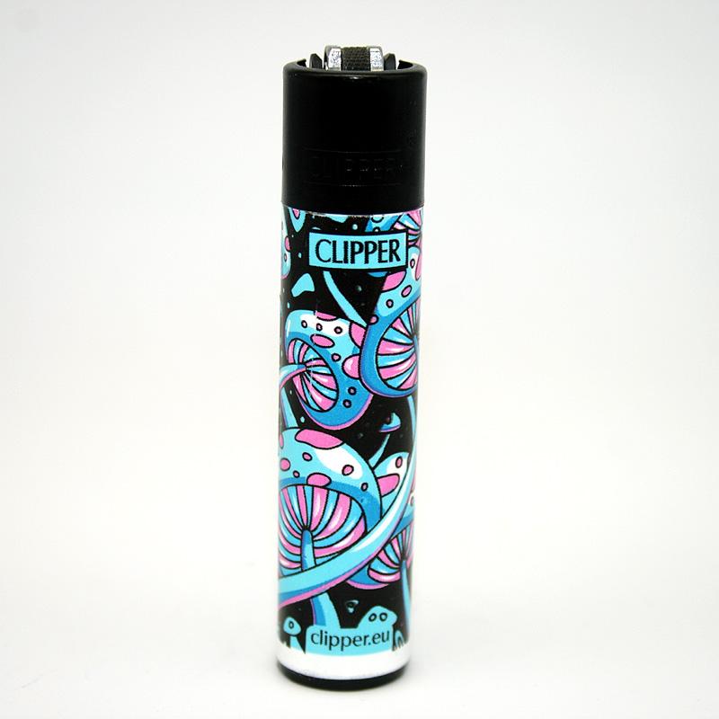 Clipper Feuerzeug Shrooms 7 blau