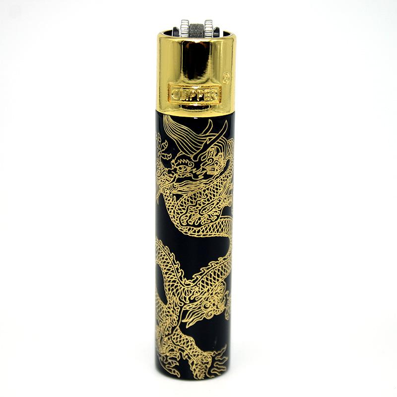 Clipper Feuerzeug Super Dragons gold