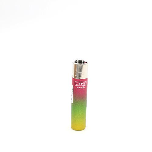 Clipper Feuerzeug Triple Gradient Rosa-Grün-Gelb
