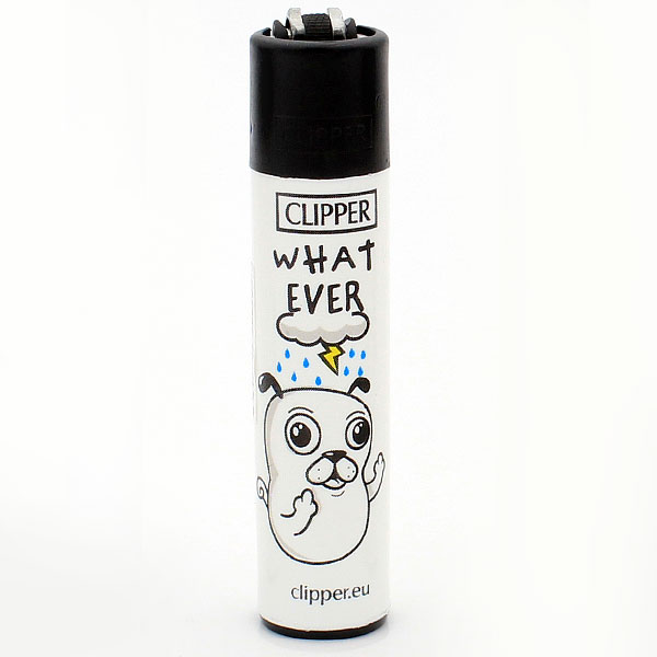 Clipper Feuerzeug Trouble Mascots WHAT EVER