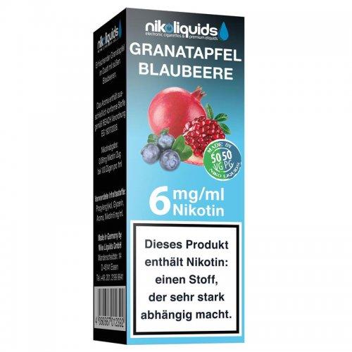 E-Liquid NIKOLIQUIDS Granatapfel Blaubeere 6mg Nikotin