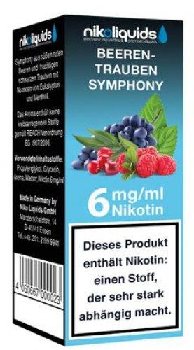 E-Liquid NIKOLIQUIDS Beeren Trauben Symphony 6mg Nikotin