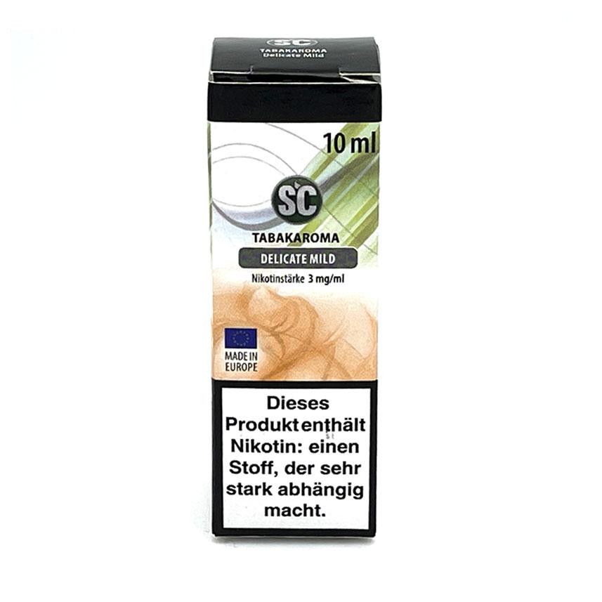 E-Liquid SC Tabakaroma Delicate Mild 3mg Nikotin