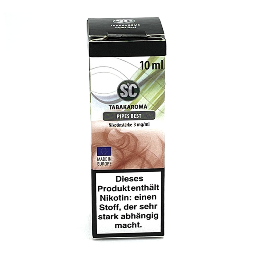 E-Liquid SC Tabakaroma Pipes Best 3mg Nikotin