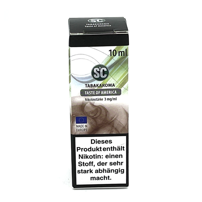 E-Liquid SC Tabakaroma Taste of America 3mg Nikotin