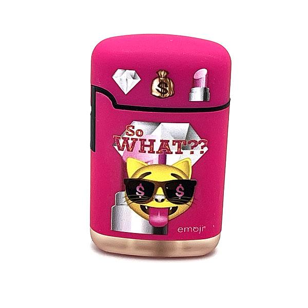 Easy Torch emoji So what?? Motiv Feuerzeug pink