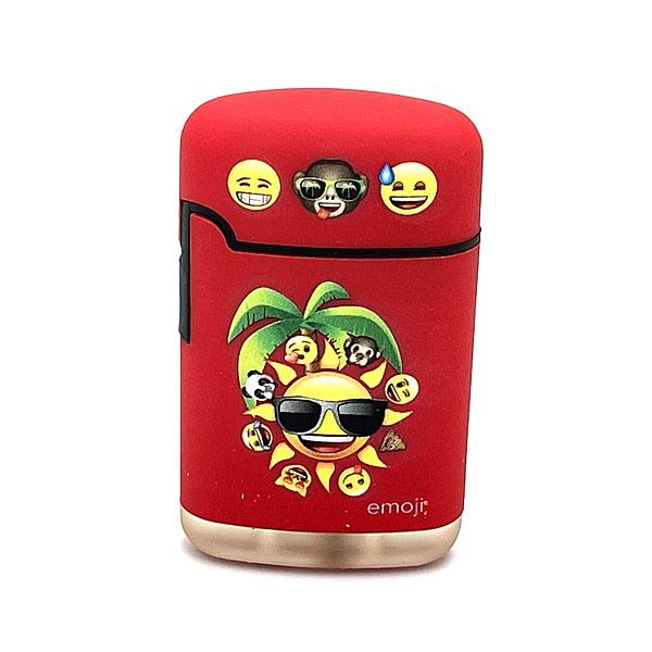 Easy Torch emoji Sonne Motiv Feuerzeug rot