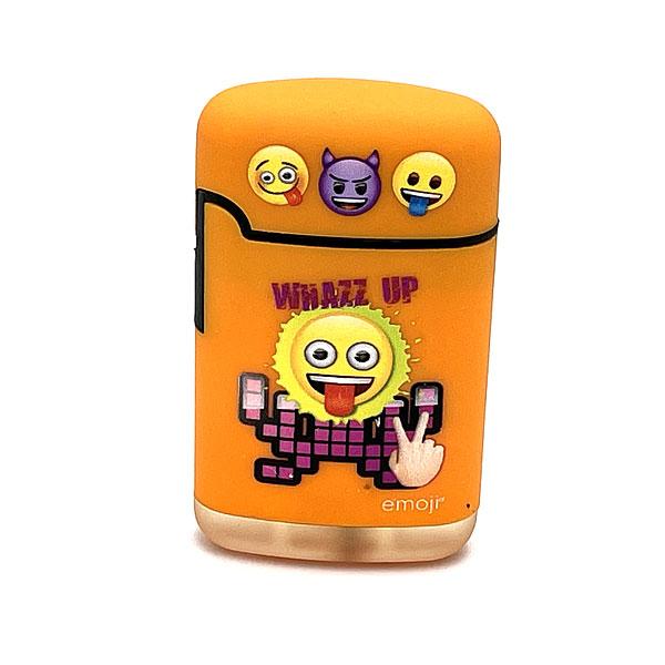 Easy Torch emoji Whazz up Motiv Feuerzeug orange