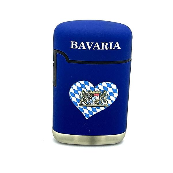 Easy Torch Herz Motiv Serie Bavaria Feuerzeug blau