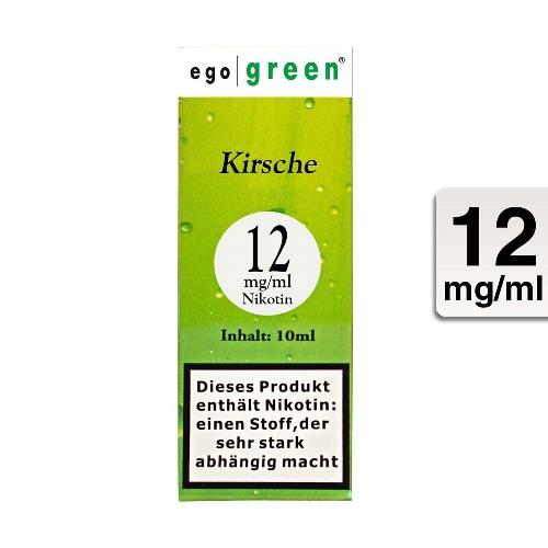 Ego Green Kirsche Flavor 12mg Nikotin