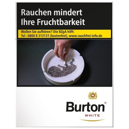 Burton Blue (White) XL Zigaretten Packung (1x25)