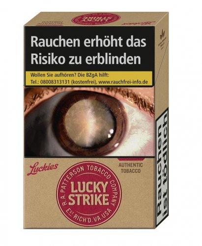 Einzelpackung Lucky Strike ohne Zusätze Authentic Red (1x20)