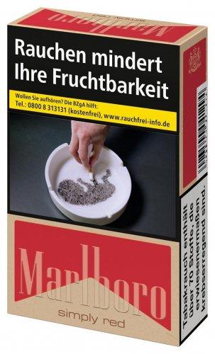 Einzelpackung Marlboro Simply Red ohne Zusätze (1x20)