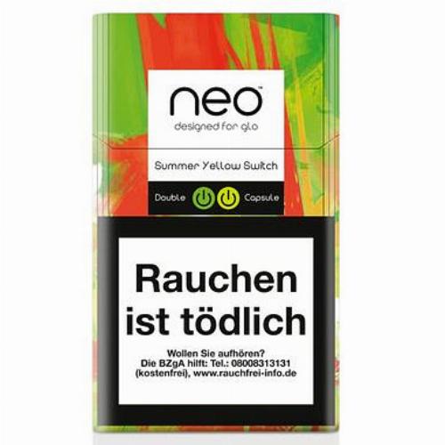 Einzelpackung neo Summer Yelllow Switch Tobacco Sticks für Glo (1x20)