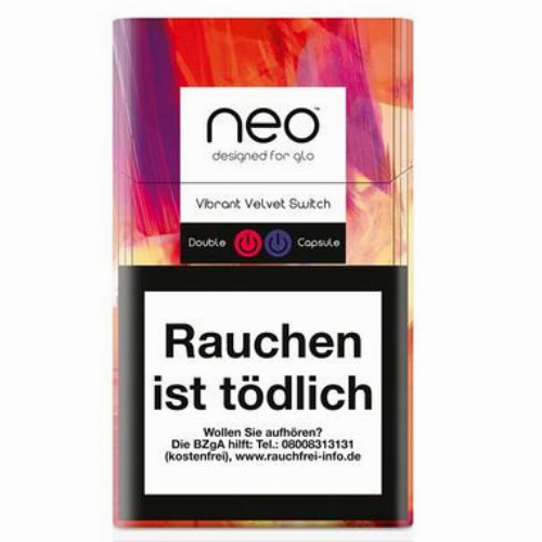 Einzelpackung neo Vibrant Velvet Switch Tobacco Sticks für Glo (1x20)