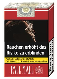 Einzelpackung Pall Mall Rot ohne Filter (1x20)
