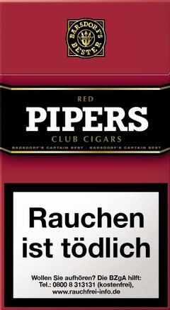 Pipers Little Cigars Red Cherry (1x10) Zigarillos