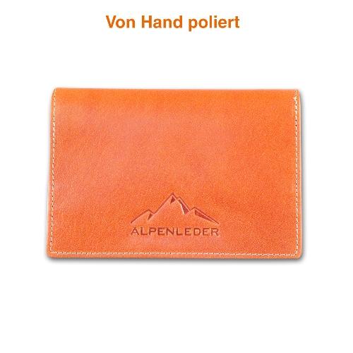 Feinschnitt-Tasche Alpenleder Sepp Cognac