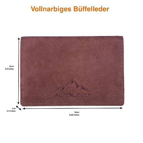 Feinschnitt-Tasche Alpenleder Sepp Leder Hunter