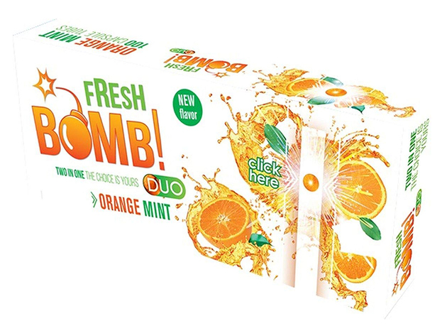 Fresh Bomb Zigarettenhülsen Orange Mint 100 Stück