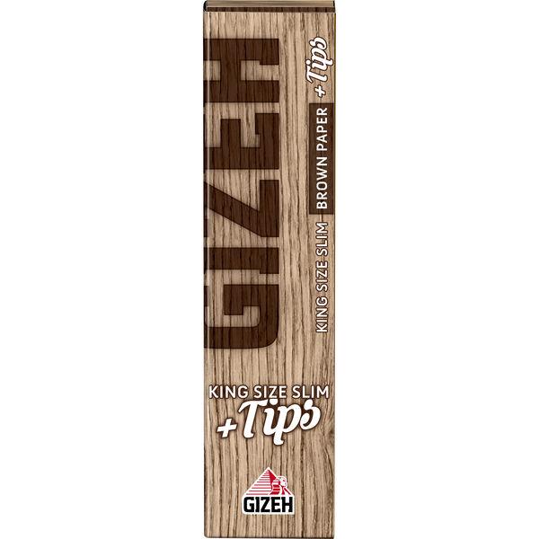 GIZEH Brown King Size Slim Zigarettenpapier + Filter Tips 34 Blättchen
