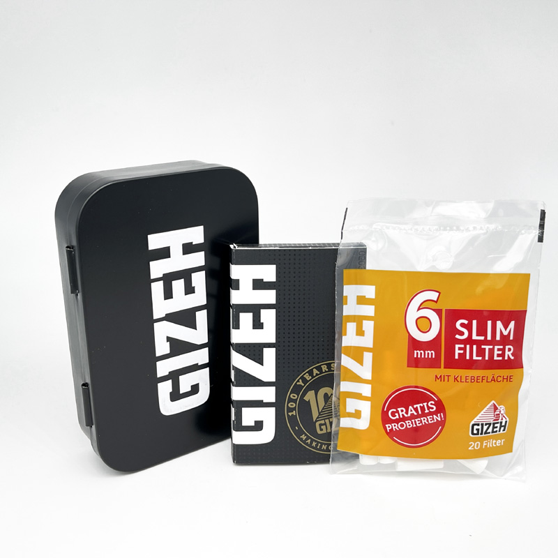 Gizeh Dreher-Box inkl. Paper und Filter Extra Fine White