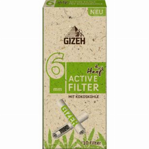 Gizeh Hanf Active Filter 6mm 1x10 Stk.