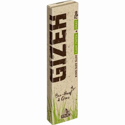 Gizeh Hanf+Gras King Size Slim+Tips 1x34 Blättchen+Tips
