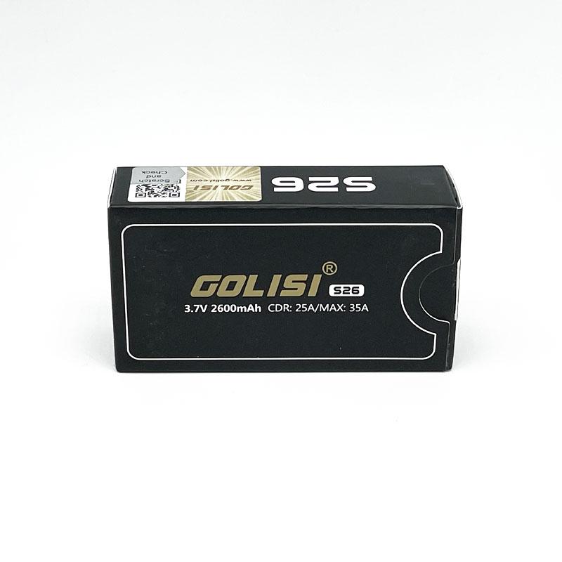 Golisi 18650er Akku Batterie mit 2600 mAh S26