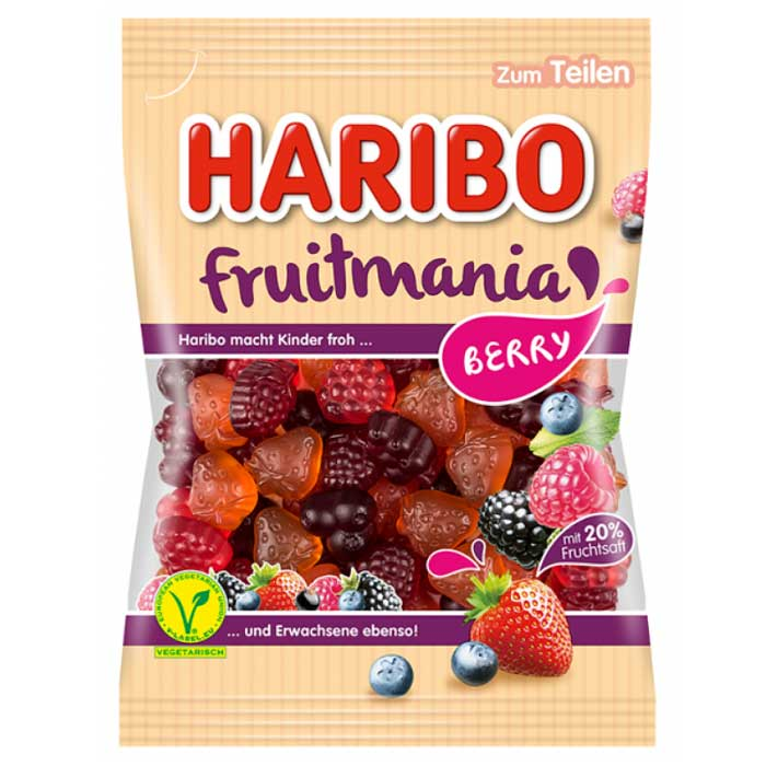 Haribo Fruitmania Berry 175g Packung