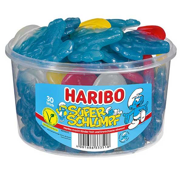 Haribo Super Schlumpf 30 Stück Dose