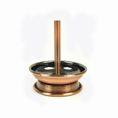 Kaminaufsatz Metall für Shishakopf Kupfer-Gebürstet 6,8cm