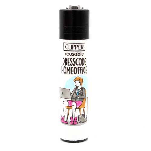 Clipper Feuerzeug Homeoffice 4v4