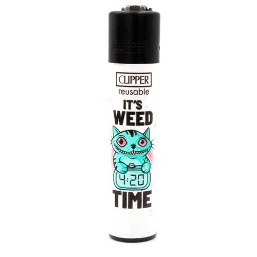 Clipper Feuerzeug Weed Slogan 5 3v4