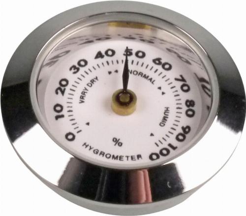 Hygrometer 30mm für Humidor Chrom