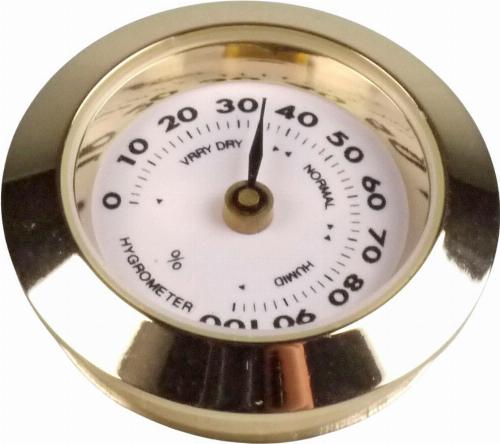 Hygrometer 30mm für Humidor Gold