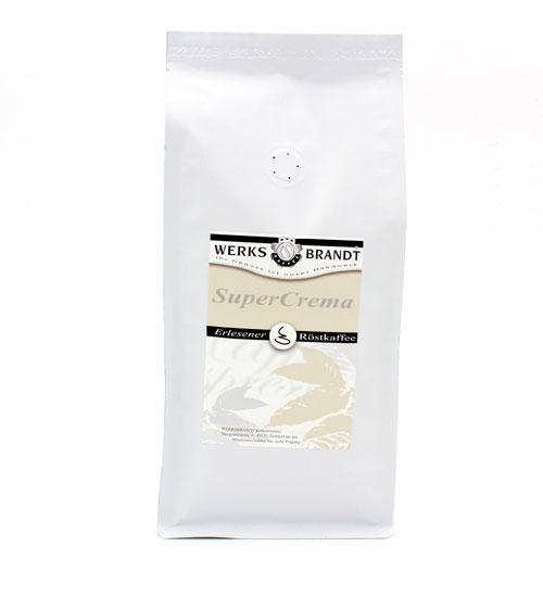 Werksbrandt Kaffee Super Crema 1 kg Bohnen