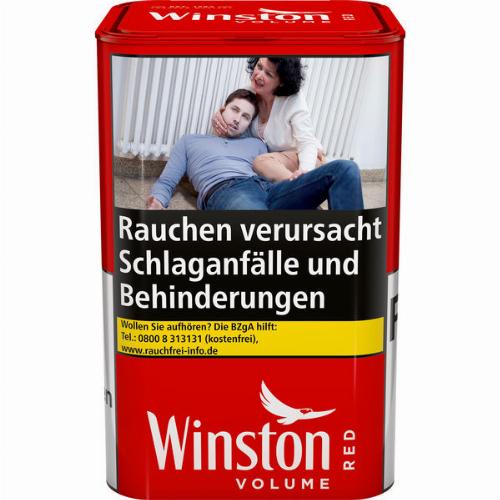Winston Tabak Rot 96g Dose Volumentabak