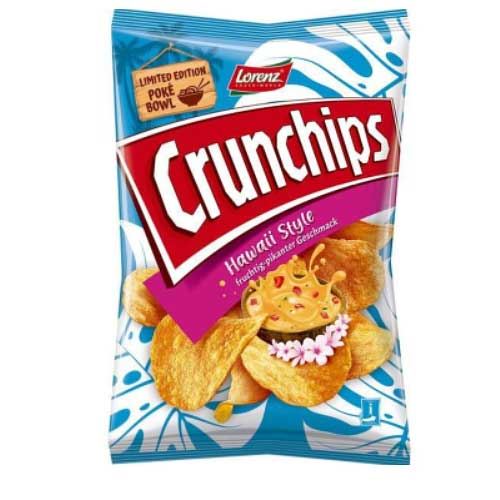 Lorenz Crunchips Hawaii 150g Chips Tüte