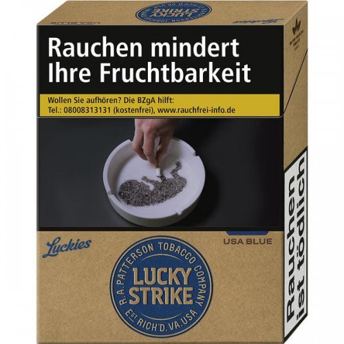 Einzelpackung Lucky Strike Authentic Blue (1x20)