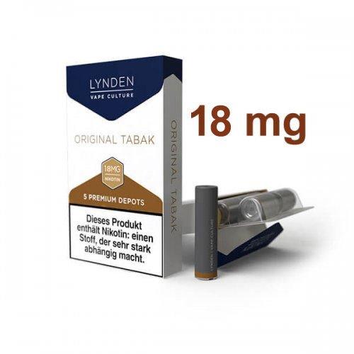 LYNDEN Depots Original Tabak Stark 18 mg Nikotin