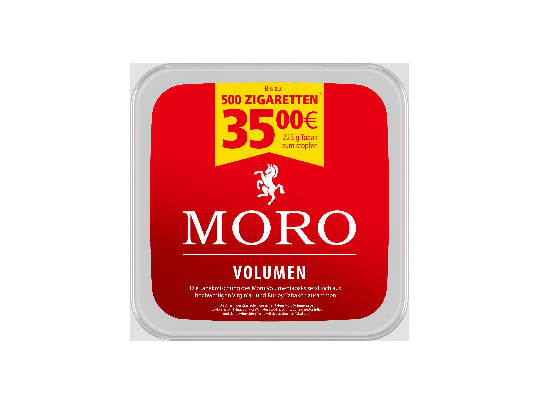 Moro Rot Volumentabak 225g Dose